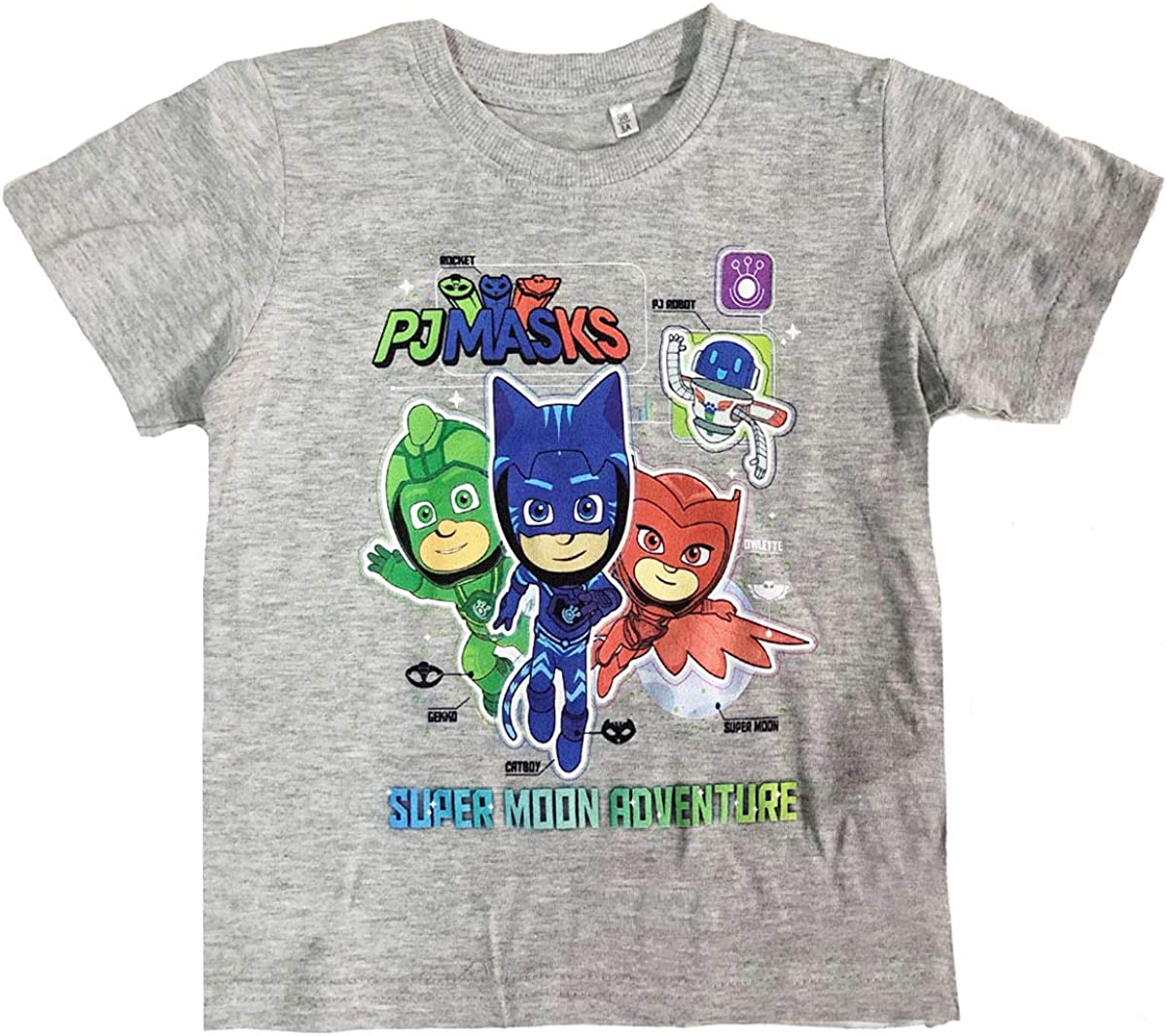 eOne PJ Masks Héroes en pijamas - T-Shirt Camiseta - para ...