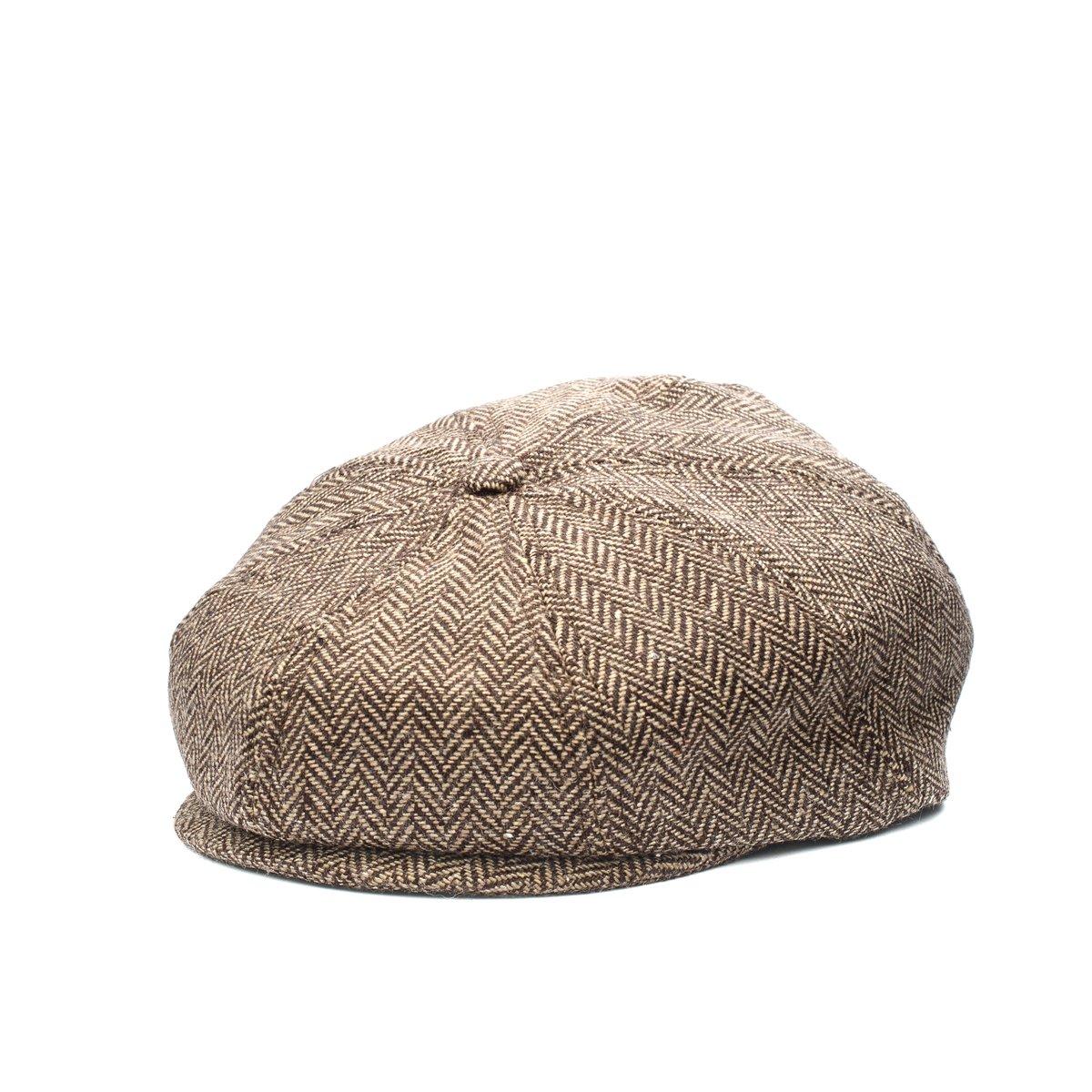 Baby Boy Scally Cap Ring Bearer Pageboy Flat Ivy Newsboy Tweed Golf Cap Hat XXS 46cm 6 to 12m, Brown