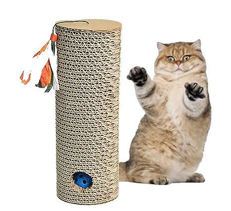 Morezi rascador de Gato cilíndrico Juguete rascador de Mascotas cartón Gatitos Gatos Juguetes
