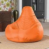 Designer Recliner Gaming Bean Bag ORANGE - Indoor & Outdoor Beanbag Chair (Water Resistant) by Bean Bag Bazaar®