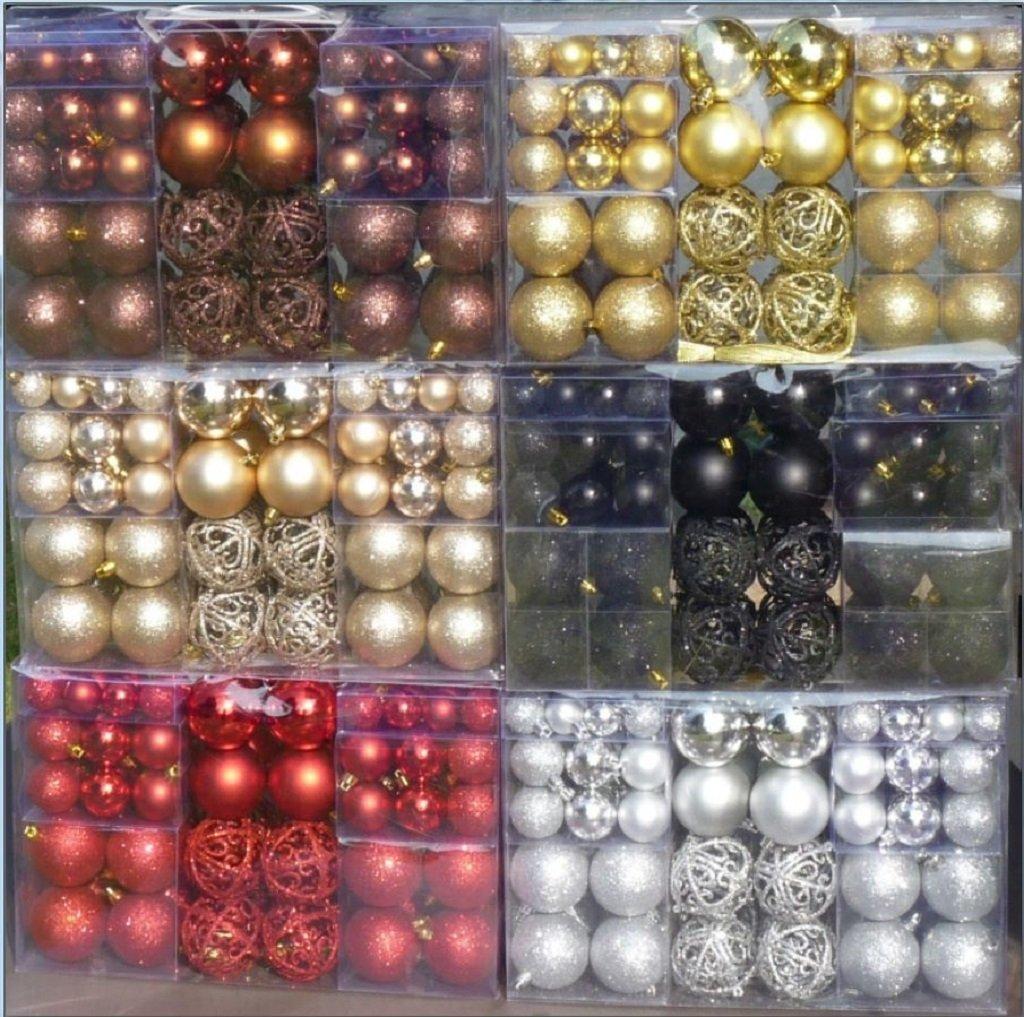 amazonde 100 weihnachtskugeln bronze braun glnzend glitzernd matt christbaumschmuck bis 6 cm - Christbaumschmuck 2015