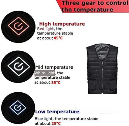 JanTeel Cold Winter Weather Three-Gear Temperature Control Electric Heating Vest