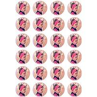 Photo comestibles pour Muffins / Cupcakes - Image gâteau avec personnalisation souhaitée (pas de fondant, mais du papier décoratif plus) ronde 4cm