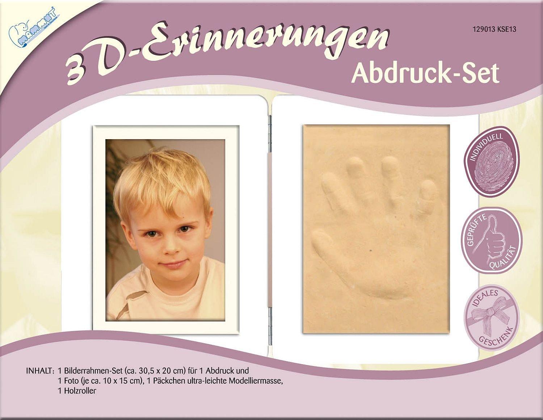 Mammut 129013-3D Erinnerungen-Abdruckset Bilderrahmen, ca. 30,5 x 20 ...