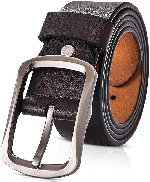 Dorriso Moda Cinturon Hombre Cuero 100 Genuino Cinturones Hombres Grande Cinturon Para Viajar Negocio Cinturon 115 130cm Amazon Com Mx Ropa Zapatos Y Accesorios