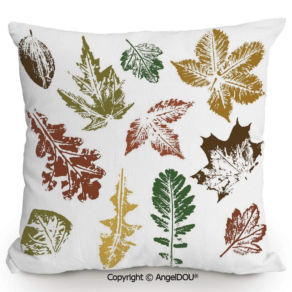 Amazon.com: AngelDOU Cotton Linen Square Throw Pillow,Autumn ...