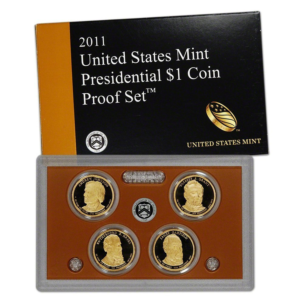 United States President OGP 2008 Presidential Dollar Proof $1 Coin Set Mint