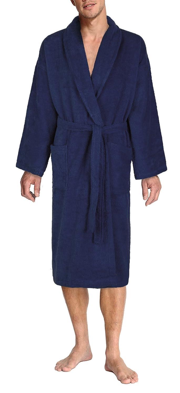 John Christian Luxury Collection - Terry Towelling Bathrobe - Navy Blue