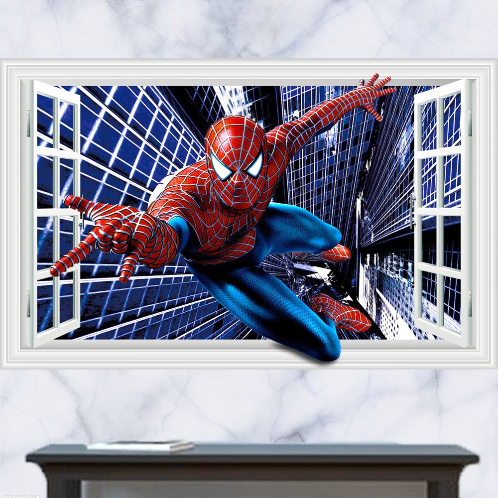 Spiderman Wall Decals Tktb
