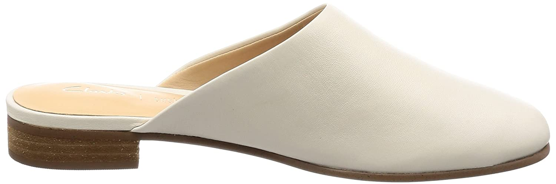 Clarks Damen Pantoletten Pure Blush Pantoletten Damen Weiß (Weiß Leder) 9a4add