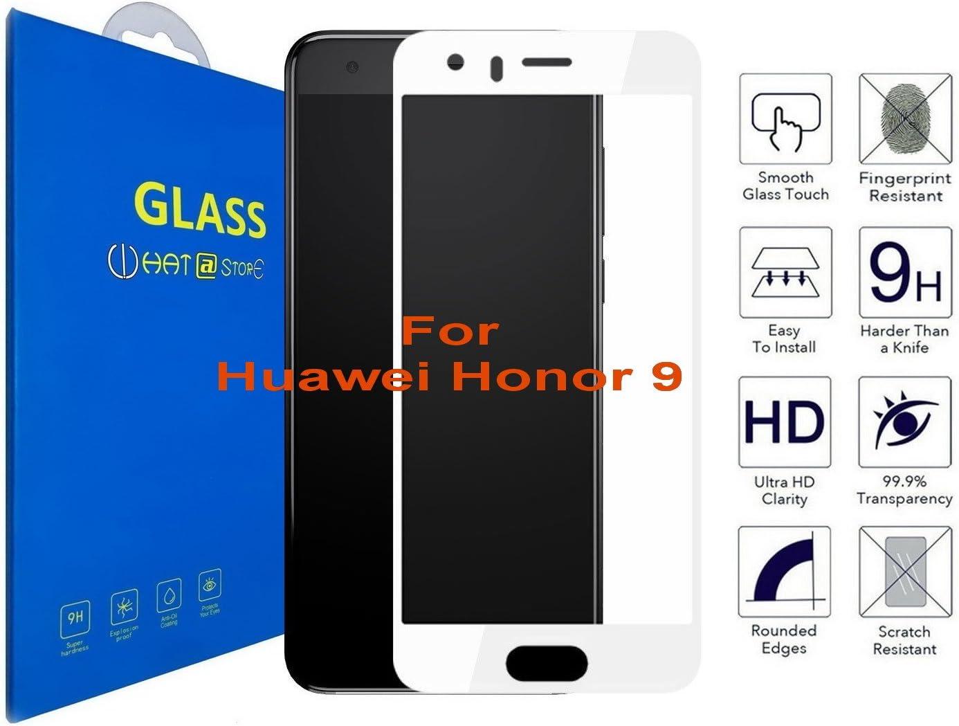 Huawei Honor 9 - Curvo 3D Borde Suave Cristal Templado Protector ...