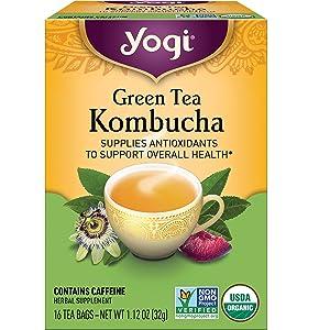 Yogi Tea - Green Tea Kombucha (6 Pack) - Supplies Antioxidants - 96 Tea Bags Total