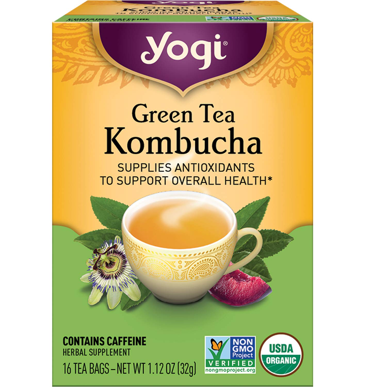 Yogi Tea - Green Tea Kombucha (6 Pack) - Supplies Antioxidants to Support Overall Health - 96 Tea Bags