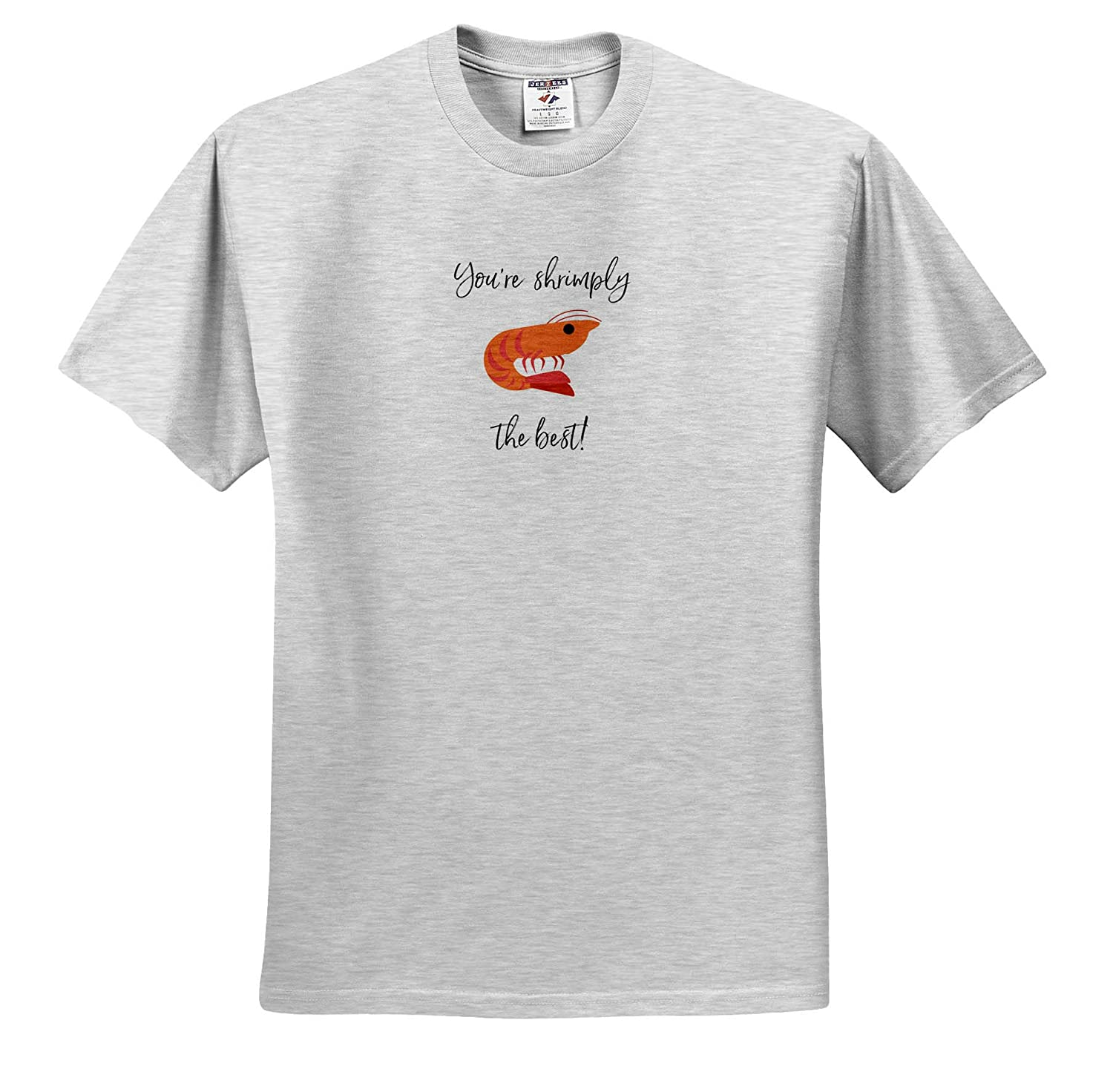 ts/_309373 Image of Youre Shrimply The Best 3dRose Nicole R Adult T-Shirt XL - Quote