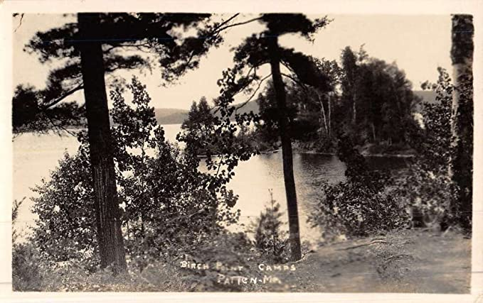 Patten Maine Birch Point Camp Scenic Real Photo Antique