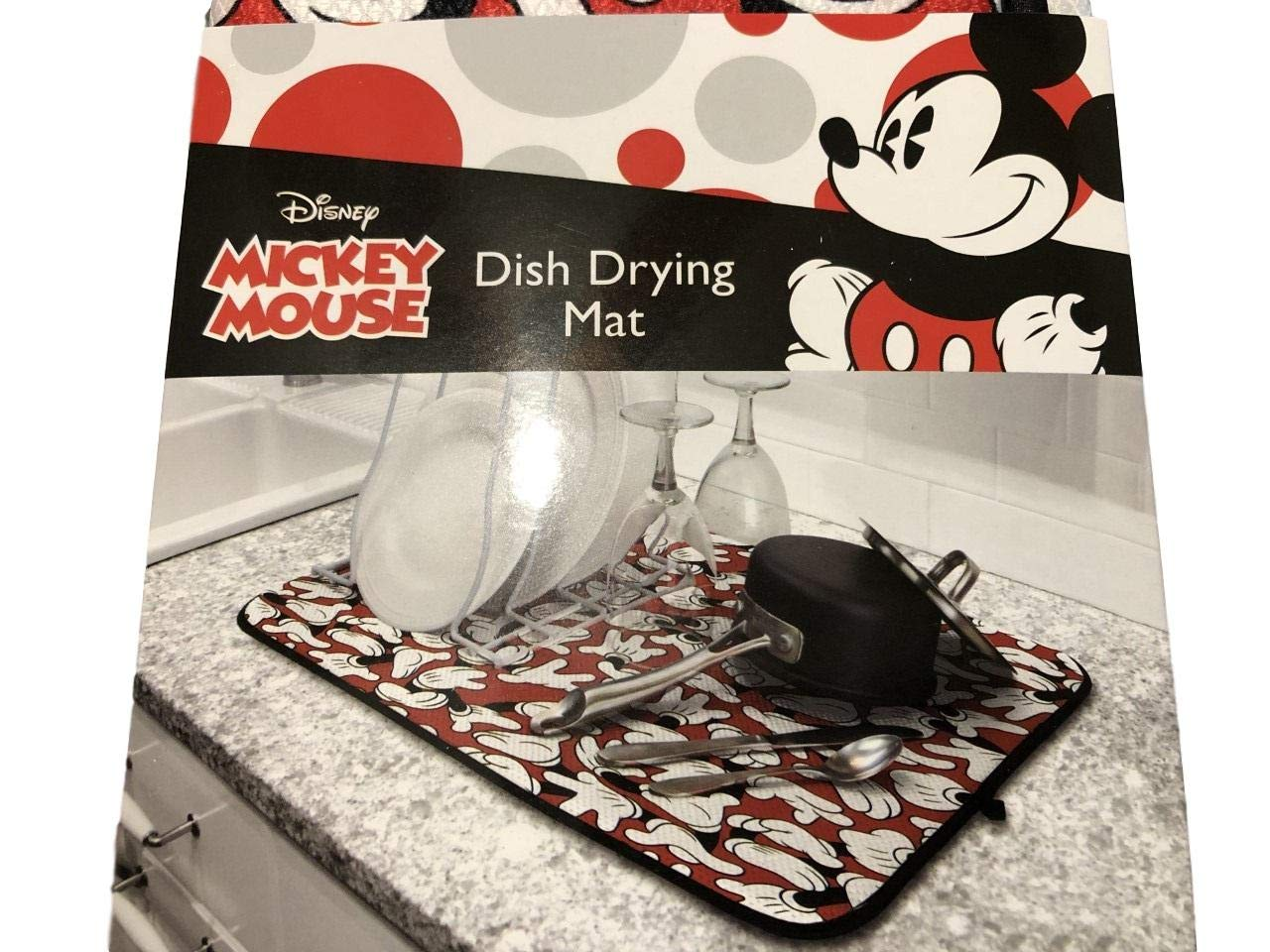 Mickey Mouse Dish Drying Mat, 16 x 18 inches