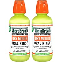 TheraBreath Dry Mouth Oral Rinse, 16 Oz Bottle (Pack Of 2)