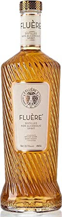 FLUÈRE - Ron sin alcohol, Bebida espirituosa destilada libre de alcohol, Spiced Cane Dark Roast, 70 cl