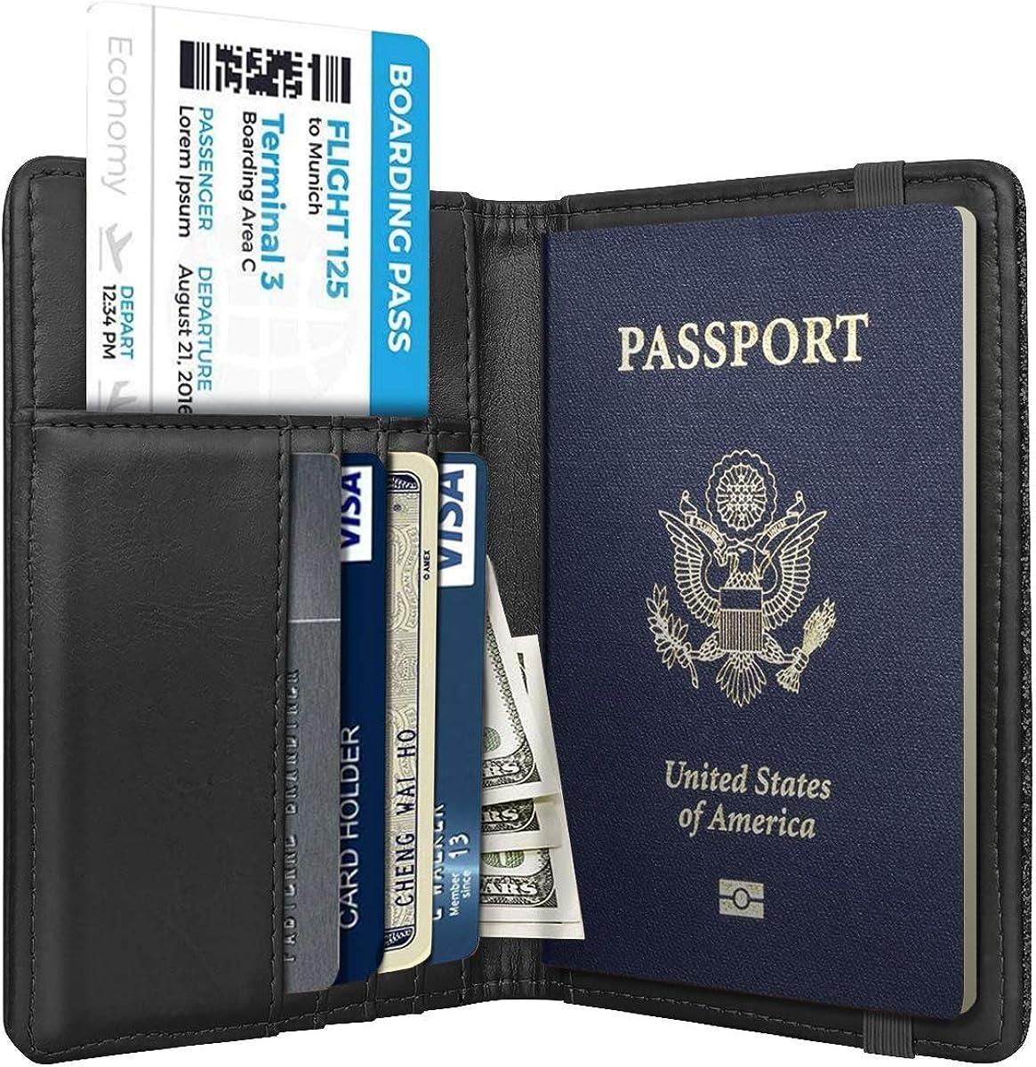RFID Passport Holder Cover Traveling Passport Case Cute Lion Drinking