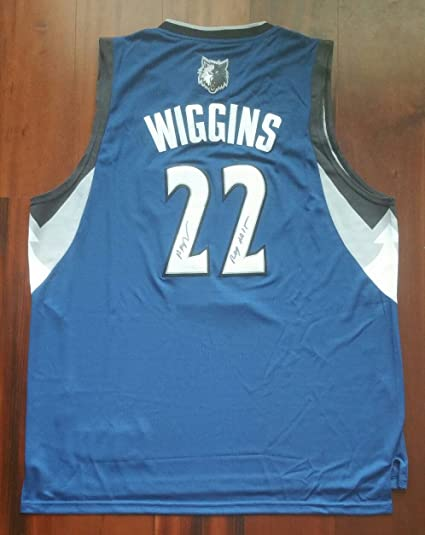Andrew Wiggins Signed Autographed Jersey Minnesota Timberwolves ...