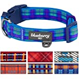 Blueberry Pet 7 Patterns Soft & Comfy Classic Scottish Tartan Pattern Ultra-soft Neoprene Padded Dog Collar or 2 Patterns Handmade Bowtie Set