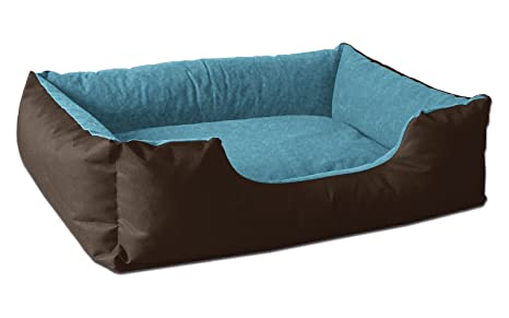 BedDog LUPI colchón para Perro S hasta XXXL, 24 Colores, Cama para Perro, sofá para Perro, Cesta para Perro, S marrón/Azul