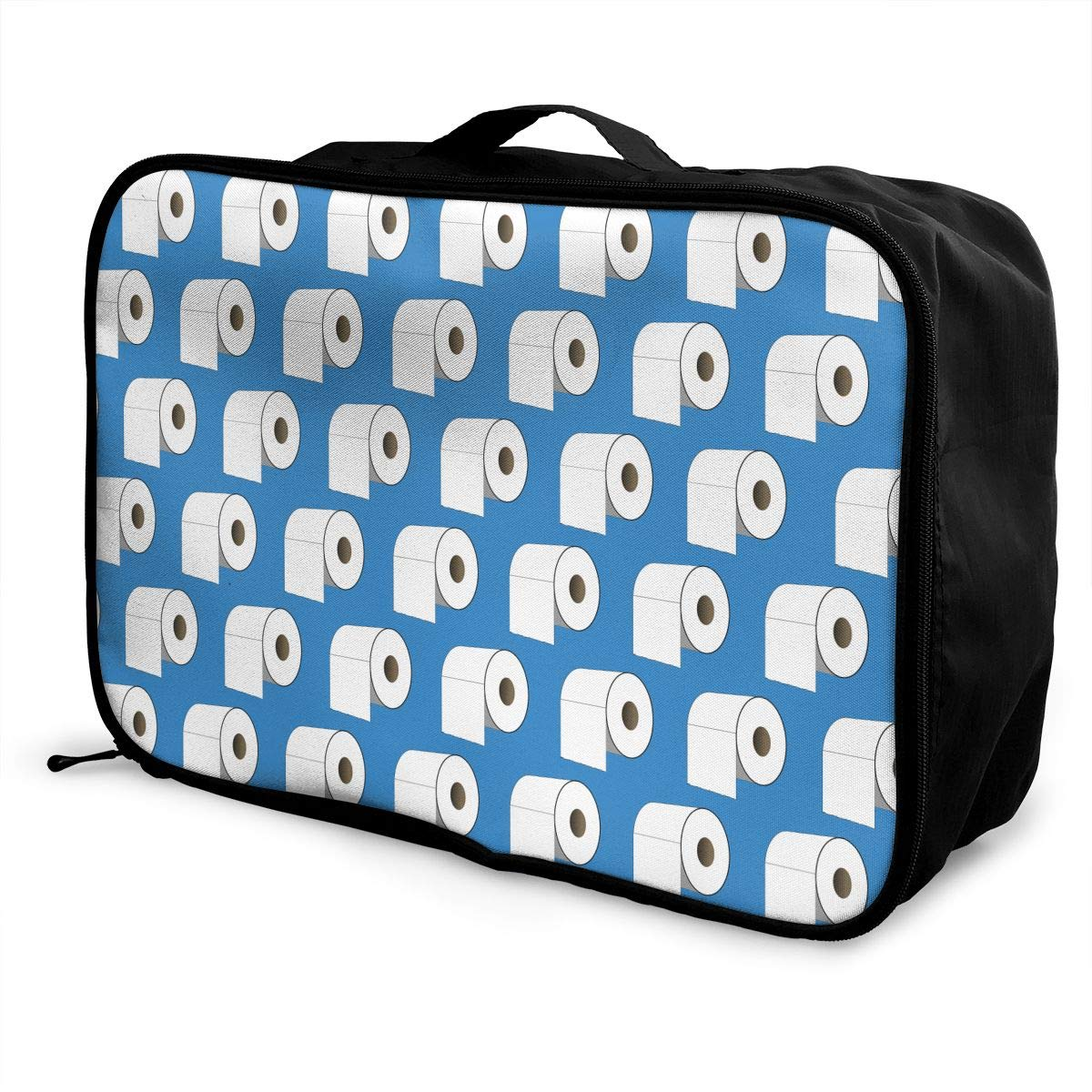 YueLJB Toilet Roll Paper Lightweight Large Capacity Portable Luggage Bag Travel Duffel Bag Storage Carry Luggage Duffle Tote Bag