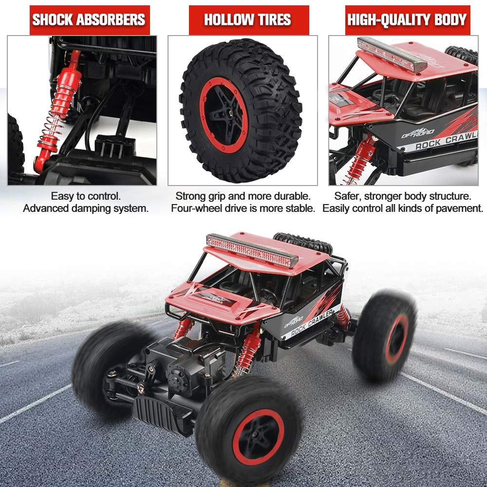 Buggy Hobby Toy for Kids /& Adults RC Car NQD 1: 16 Dual Motors Remote Control Truck 2.4Ghz 4WD Off Road Remote Control Car with Two Rechargeable Batteries