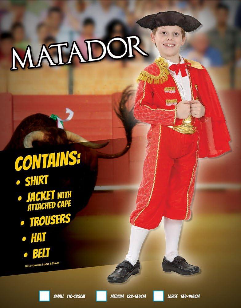 Childrens Matador Costume Bull Lotta Spagnolo Vestito Bambino Kids M