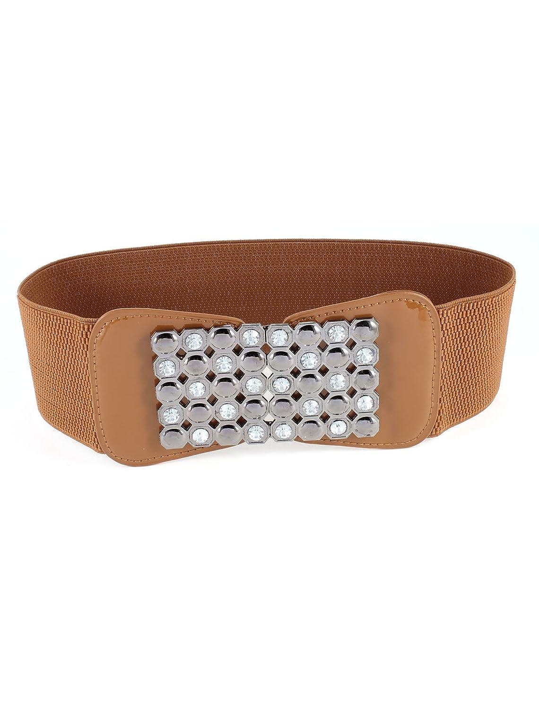 Sparkling Rhinestone Design Elastic Waistband Belt for Ladies