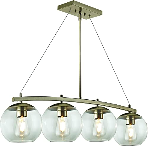 Addington Park 31780 Roques Collection 4-Light Glass Globe Pendant