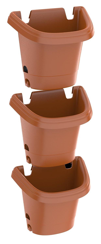 Amazon.com : Bloem Hanging Garden Planter System 3 Pack, Terra Cotta ...