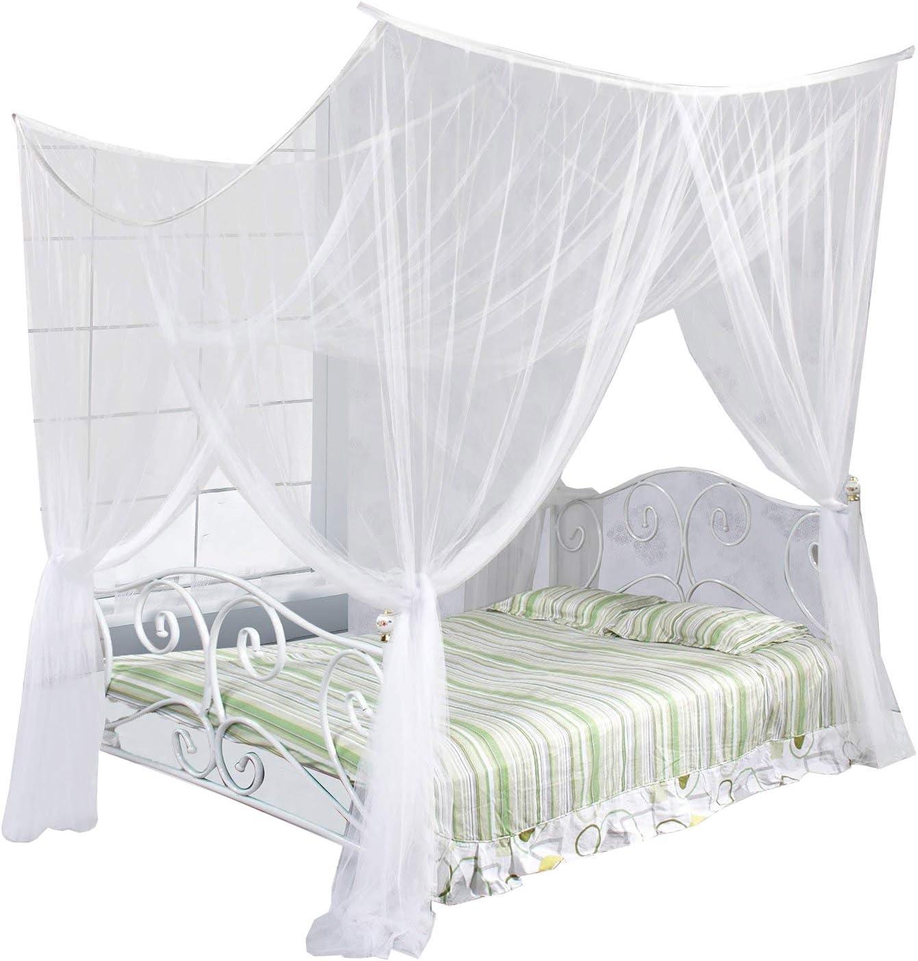 Amazon Com Just Relax Four Corner Post Elegant Mosquito Net Bed