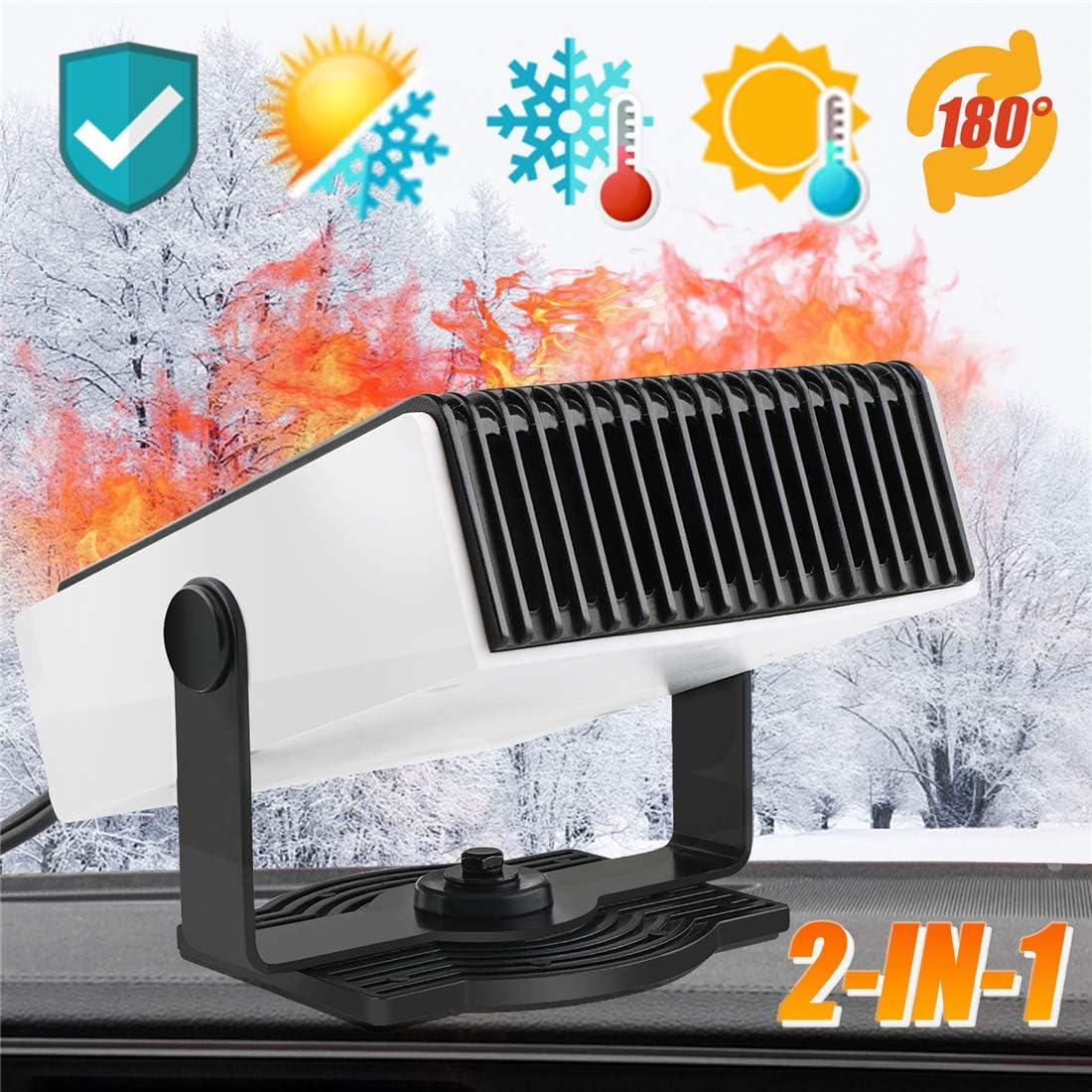 nettoyage /à air 12V 150 W TBoonor Radiateur 2 en 1 pour voiture Defroster Demister avec protection contre la surchauffe et rotation /à 360 /° chauffage rapide ventilateur de refroidissement