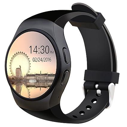 Amazon.com: KW18 Bluetooth ritmo cardíaco reloj inteligente ...