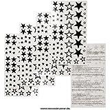 58 Sterne Stars temporäre Tattoos neue festen hohle fünfzackige Sterne - No China! (1)