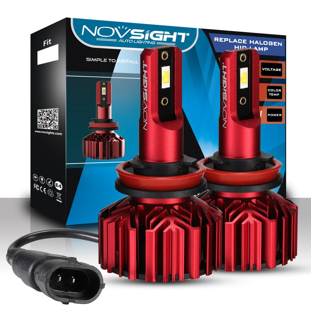 novsight 2pcs 9005/9006/H1/H3/H4/H7/H11 LED lampadine faro kit di conversione lampadine per auto DC 9 V ~ 32 V 60 W (30wx2) 10000lm (5000lmx2) 6000 K Bianco IP68 impermeabile garanzia 2 anni