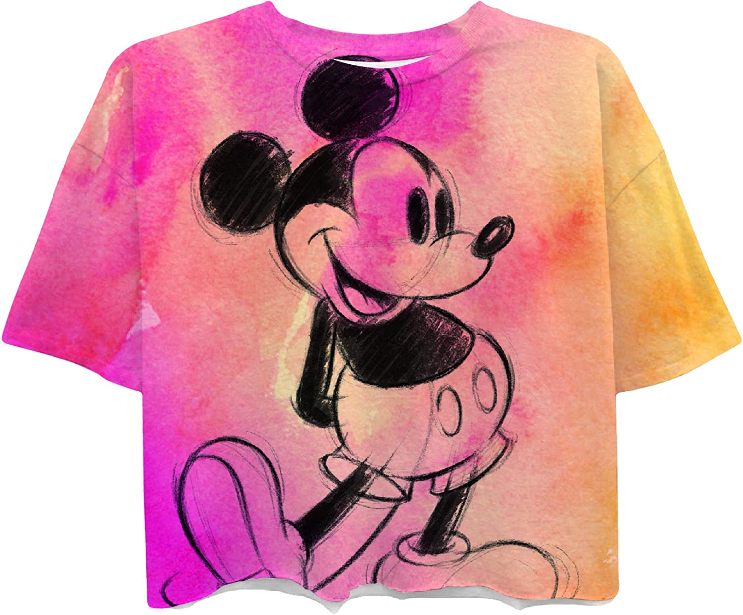 Ladies Classic Mickey Mouse Clothing Mickey Mouse Short Sleeve Tee Disney Ladies Mickey Mouse Fashion Shirt