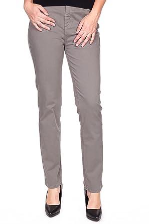 900016a3090f5 KANOPE-Melli Napa-Pantalon en Toile-Coupe Droite-Taille élastiquée et Haute
