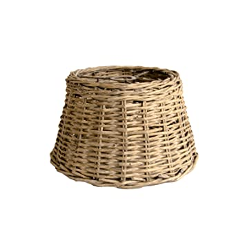 Ceiling lampshade country wicker round basket lamp shade grey washed ceiling lampshade country wicker round basket lamp shade grey washed xl large amazon kitchen home aloadofball Choice Image