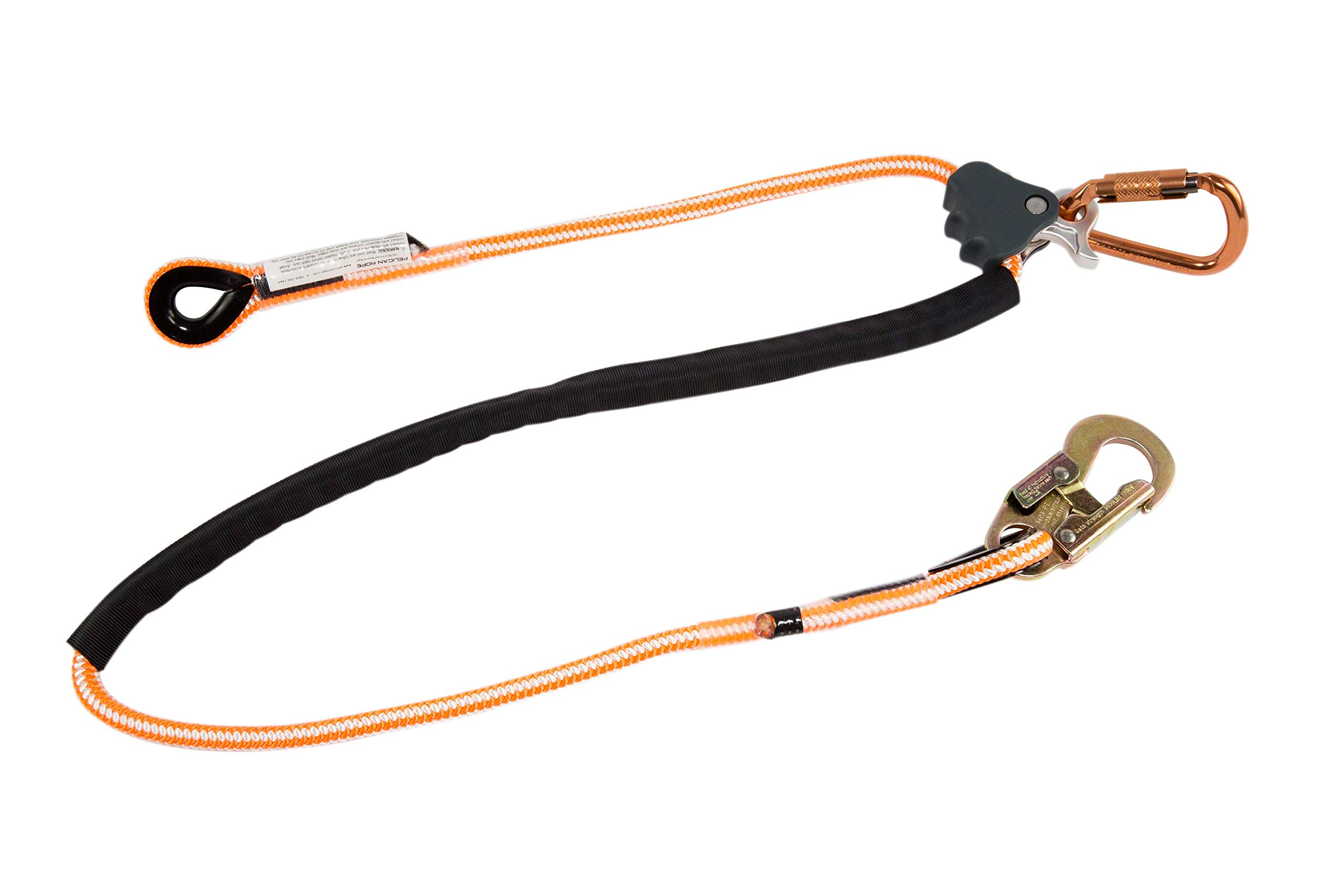 Pelican Rope Arborist-16 Adjustable Work Positioning Lanyard with Steel Snap Hook (1/2 in) - ANSI Certified All-In-One Kit - for Arborist, Rigging, Tree Care, Tower Climbing (8 feet) by Pelican Rope (Image #1)