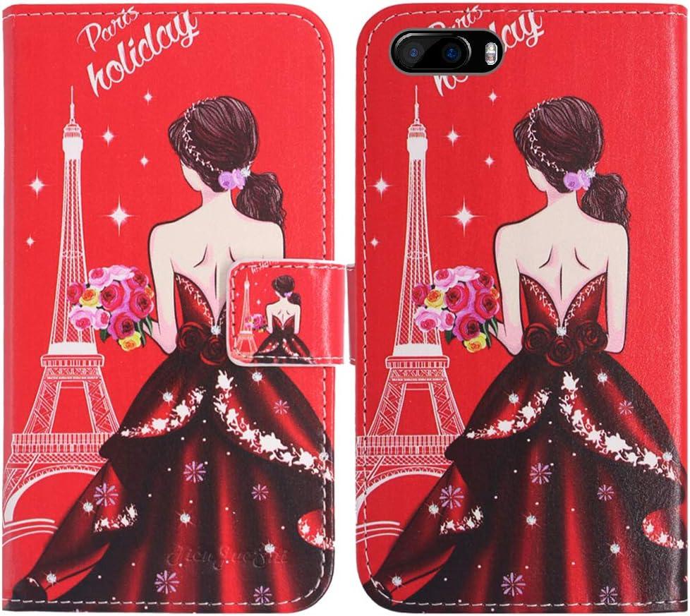 Amazon Com Tienjueshi Dream Girl Book Stand Fashion Design Flip Leather Protector Case Cover Tpu Silicone Skin Etui Wallet For Cubot Magic 5 Inch