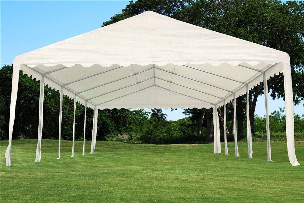Amazon.com  32u0027x16u0027 PE Party Tent White - Heavy Duty Wedding Canopy Carport Shelter - with Storage Bags - By DELTA Canopies  Storage Sheds  Garden u0026 ... & Amazon.com : 32u0027x16u0027 PE Party Tent White - Heavy Duty Wedding ...