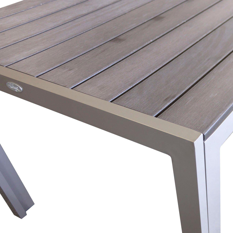 Amazon.de: Aluminium Gartentisch Esszimmertisch Esstisch ...
