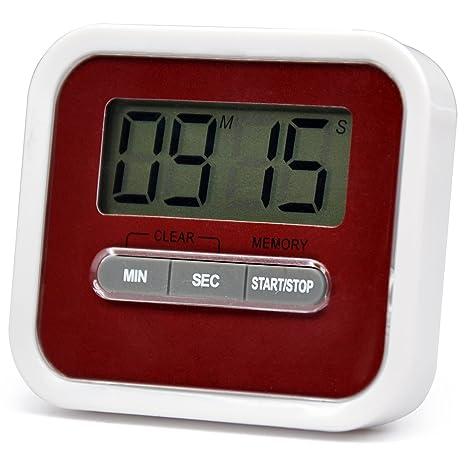 TRIXES - QQ72 - Temporizador digital de cocina, cronómetro alimentos alarma imán soporte ejercicio Beeper
