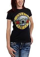 Guns n Roses - - Frauen Used-Look-Kugel-T-Shirt