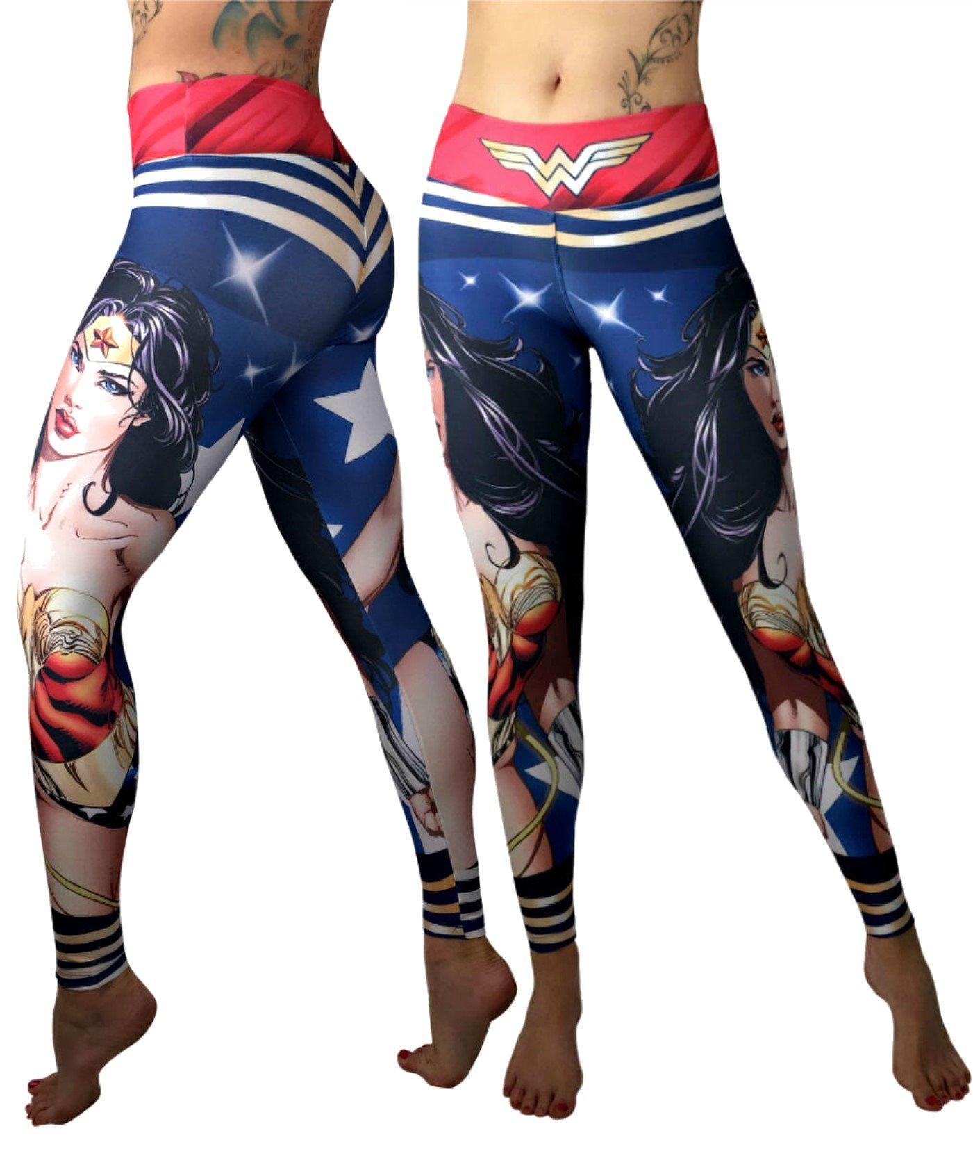 Exit 75 Superhero Leggings Yoga Pants Compression Tights