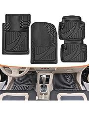 Motor Trend flextough Rendimiento avanzado Mats-4Piezas HD Alfombrillas de Goma para Coche SUV Auto Todo Tipo de Clima Plus (Negro)