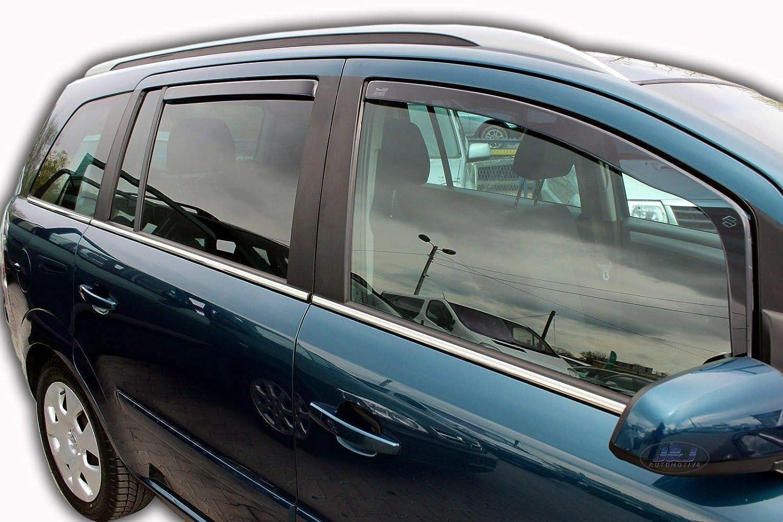 J&J AUTOMOTIVE | Deflecteurs d'air Déflecteurs de Vent Compatible avec Opel Zafira B 5 Portes 2005-2010 4pcs