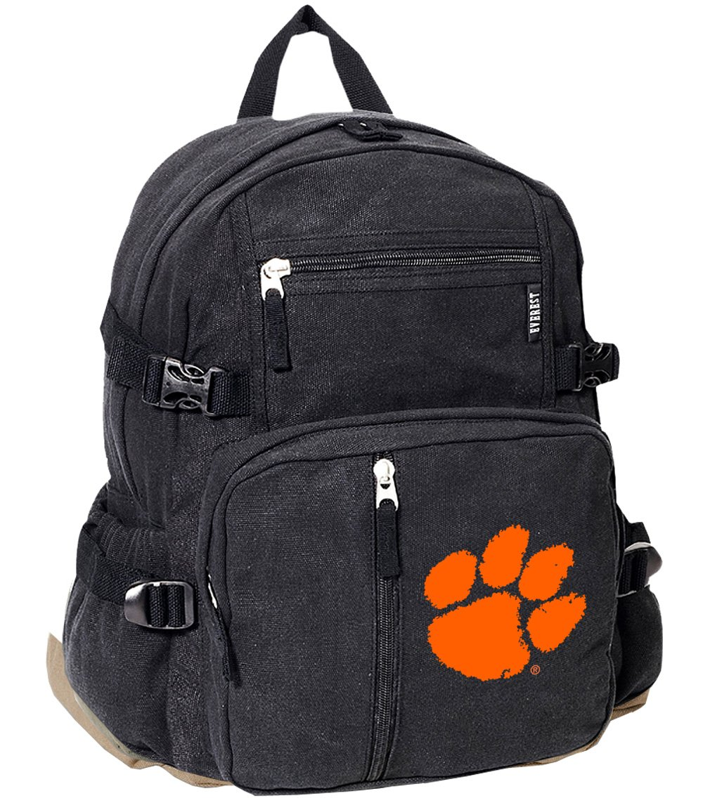 いいスタイル ClemsonバックパックキャンバスClemson Tigers学校や旅行バッグ B01E7SJOL6 B01E7SJOL6, アゴラショッピング:5865690a --- arianechie.dominiotemporario.com